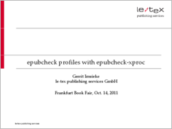 epubcheck-xproc: Presentation at Frankfurt Book Fair 2011